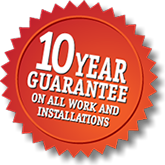 10 year guarantee on tile and stone installations