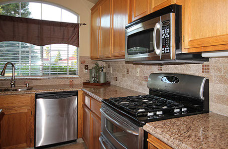 Granite countertop project on East Springer Drive, Turlock, California.