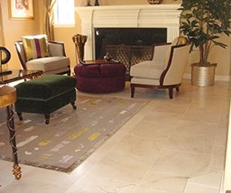 Living room stone tile floors, marble flooring, design and installation